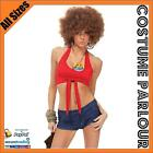Womens Hippie Peace & Love Retro Disco 50s 60s 70s Ladies Fancy Dress Costume