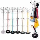 Colorful Clothes Umbrella Bag Hat and Coat Stand Rack Hanger with Solid Base