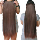 "Full Head One Piece Clip In 100% Human Hair Extensions Hair piece 28""-32"" Long"