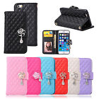 "New Bling Camellia PU Leather Wallet Stand Folio Case Cover For 4.7"" iPhone 6"
