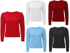 Womens Ladies Long Sleeve Knitted Fluffy Pull Over Sweater Jumper One Size 8-14
