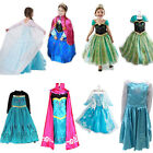 Xmas Gift Kids Girls Costume Cosplay Party Princess Frozen Elsa Anna Fancy Dress