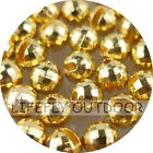 Pick Size / 100 Tungsten Beads, Disco, Faceted, Slotted, Fly Tying / Gold Color