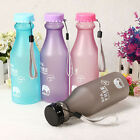 Sports Gym Water Bottle Plastic Drink Exercise Travel Unbreakable Leak-proof