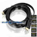 HDMI Kabel 1.4b Schwarz Flach Flat Slim Triple XD Technologie HDMI Movie NERO