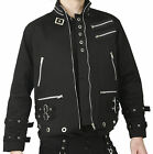 Goth & Punk Black Canvas EYELET JACKET. Dead Threads NEW S M L XL Zips & Bondage