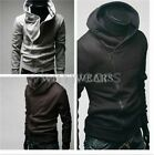 Mens Warm Slim Casual Hoodie Jacket Coat Stand Collar Zip 3 Colors M~XXL MPF