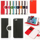 Magnetic Wristlet Leather Flip Wallet Stand Case Cover For iPhone 6 / 6 Plus 5.5