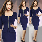 Hot Sale Womens Work Office Bodycon Business Formal Cocktail Pencil Dress G