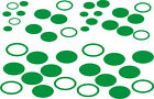 84 x OVAL Pack Stickers - car bike wall art, windows vehicles - graphic/decal