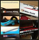 Personalised Bike Frame Name Vinyl Decal Stickers Any Flag Cycle Bicycle Helmet