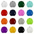 Basic Cotton Crewneck Sweatshirt Jumper Tee Tops All Colours.XS / S / M / L / XL