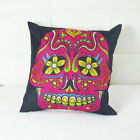 Vintage Gothic Halloween Skull Back Cushion Cover Pillow Case Sofa Decor