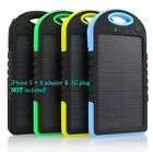 Внешний вид - 5000 mah Dual-USB Waterproof Solar Power Bank Battery Charger for Cell Phone