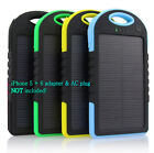 5000 mah Dual-USB Waterproof Solar Power Bank Battery Charger for Chamber Phone