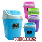 SMALL SWING BIN PLASTIC PAPER RUBBISH DUST BIN HOME OFFICE KITCHEN WASTE BUCKET