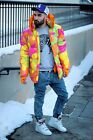 Adidas Originals x Jeremy Scott Neon Camo Jacket Jacke Intense M L