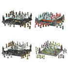 Medieval Mythical Decorative Figure 13'' Raised Glass Board Chess Set
