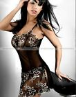 Set of 3pcs Sexy Lady Lace Underwear Nightwear Long Gown Babydoll Robe Sleepwear