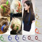 Hot Multi Color Women Long Straight Synthetic Clip in on Hair Extensions Piece N