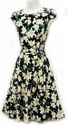 New Rosa Rosa WW2 VTG 1930's 1940's Art Nouveau Lily Floral Party Tea Dress
