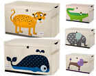 NEW 3 Sprouts Large Toy Chest Box with Lid - Whale, Poodle, Ele, Croc or Leopard