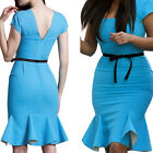 Hot Women Formal Sleeveless Pencil Dress Fish Hem Cocktail Night Party Dress