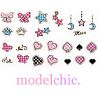 3D Nail Art Decal Stickers Metallic Gold Heart Bow Star Moon Butterfly Pink Blue
