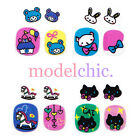 3D Nail Art Decal Stickers Cute Cartoon Rocking Horse Bear Castle Moon