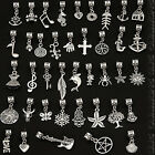 Mix Dangle Tibetan Silver Charms Fit European Bracelet Bails Lots Beads Pendants