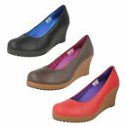 LADIES CROCS LEATHER WEDGES STYLE - A-LEIGH CLOSED TOE WEDGE - £14.99
