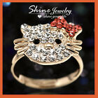 18K GOLD GF R300 CHANNEL SQUARE SWAROVSKI DIAMONDS WEDDING SOLID TAIL TOE RING