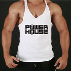 POWER HOUSE RACERBACK BODY BUILDING STRINGER VEST SINGLET GYM MUSCLE BUILDER