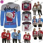 Mens Womens Unisex Ho Ho Ho Christmas Naked Mooning Santa Winter Knitted Jumper