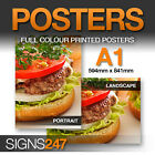 2 x A1 Poster Printing - Full colour MATT Poster Printing Service - FREE P&P!