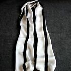 Great Gifts!   Classical  Mens 100%  Mulberry Silk Long Scarf/Cravat  Striped