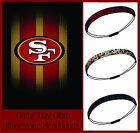 LOT 3 San Francisco 49ers Team Color Womens Rhinestone Headbands Wear w/ Jersey