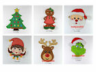 Applique Large Felt Iron / Sew On Patch Xmas Santa Grinch Elf Reindeer Character