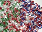 25 or 75 grams, 2mm (Size 12/0) Seed Beads in Red, Blue, White and Green (BD18)
