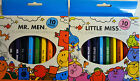 10 Jumbo Mr. Men or Little Miss Thick Coloured Pencils - Free UK Postage