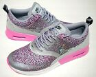 Nike Air Max Thea Print Pink/ Wolf Grey / White w/Bling Crystals from Swarovski