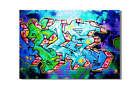 KUNST BILD pop art GRAFFITI LEINWAND BILDER GEMÄLDE new york london 3906x