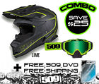 509 ALTITUDE HELMET LIME GREEN W/ SINISTER X5 GOGGLE COMBO SAVE $25.00