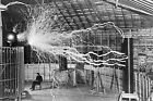 NIKOLA TESLA LAB GLOSSY POSTER PICTURE PHOTO electricity electric coil cool 2061