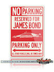 Lotus Esprit James Bond 007 Reserved Parking Only Sign - 12x18 or 8x12 Aluminum $22.9 USD on eBay