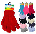 1 Pair to 6 Pack Children Kids Woolly Knitted Warm Magic Unisex Winter Gloves