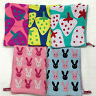 AM52 Cartoon Rabbit Strawberry Handkerchief Saliva Bib Clean Baby Cotton Towel