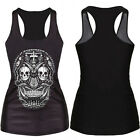 Women 3D Graphic Printed Tank Tops Blouses Gothic Party Vest Clubwear T-Shirts