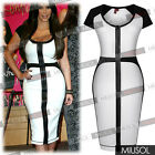 New Womens Cocktail Bodycon Dress Ladies Formal Party Business Slim Pencil Dress