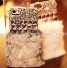 Luxury Fur Diamond Crystal Bling Case Cover For iPhone6 Plus Samsung Note4 S5